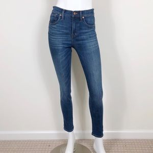 T1-6: Madewell dark high-rise skinny jeans size 26